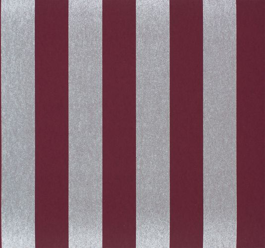 Non-woven Wallpaper Glossy Stripes bordeaux Glossy 225449