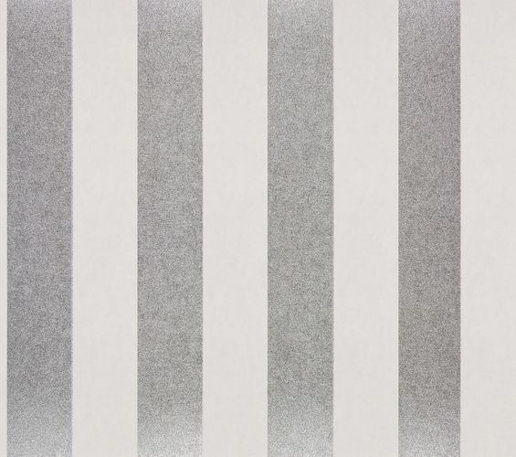 Non-woven Wallpaper Glossy Stripes Classic silver 225432 online kaufen