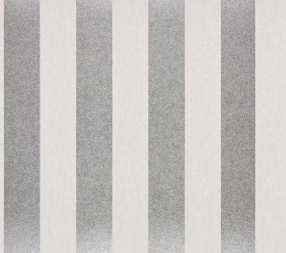 Vliestapete Glanzstreifen Klassisch silber weiß Glanz 225432