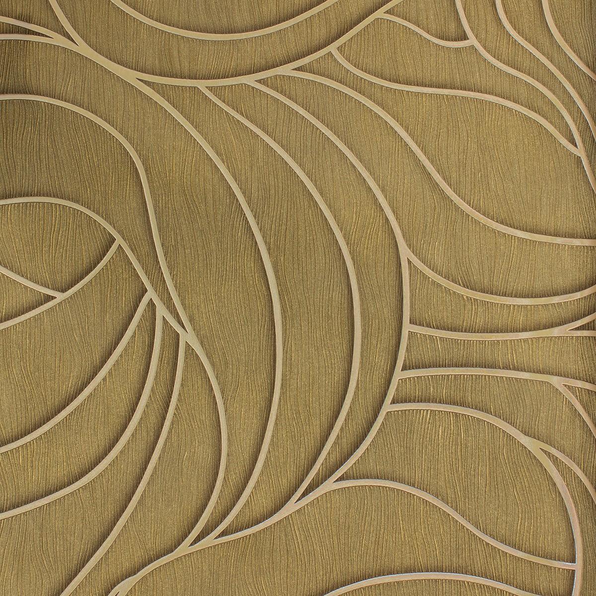 Wallpaper Luigi Colani Marburg 53341 Texture Beige Bronze