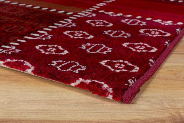 Rug Maya woven rug patchwork rag rug optic in 4 sizes red online kaufen
