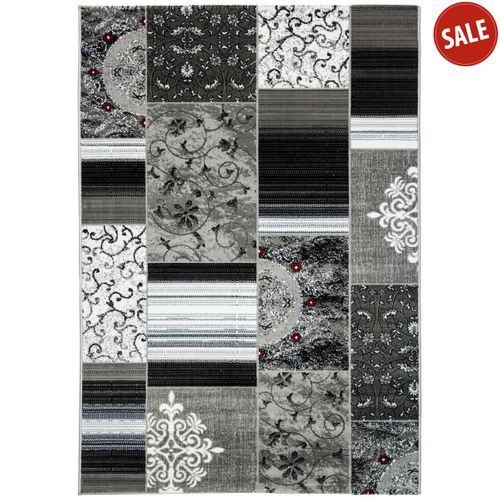 Rug Mozaik woven rug modern design rug in 4 sizes grey online kaufen