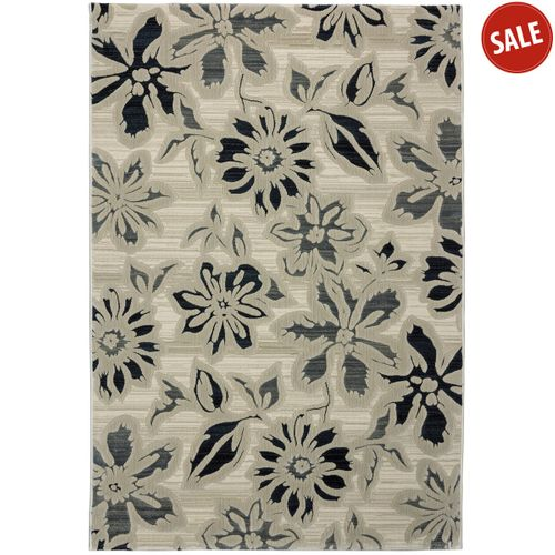 Rug Everest 3D modern design rug in 4 sizes cream grey online kaufen