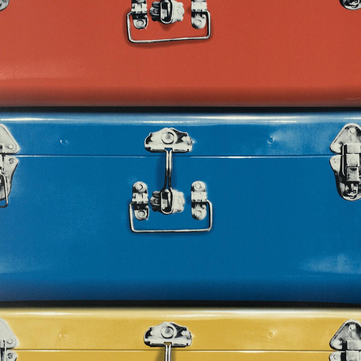 tapete koffer rot blau gelbgold tapeten rasch textil new age 319858. Black Bedroom Furniture Sets. Home Design Ideas