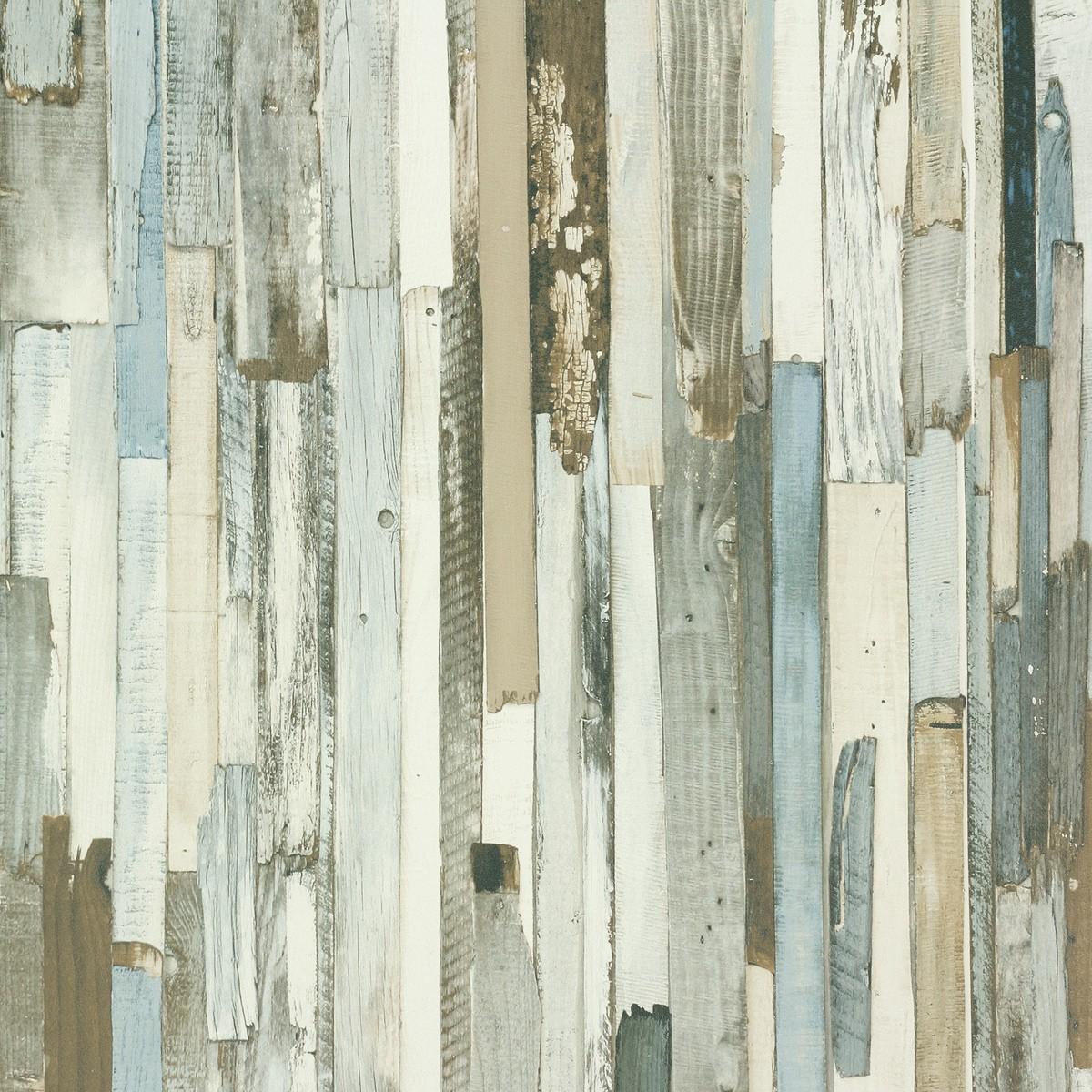 Tapete Holzoptik Beige Blau Rasch Textil New Age 319926