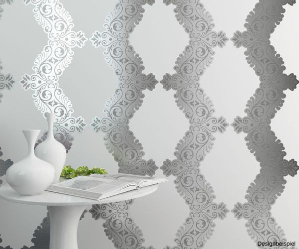 non-woven wallpapers baroque white silver wallpapers Vertiko Neo Erismann 6903-10 690310 online kaufen