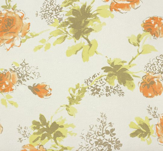 Non-woven wallpaper floral cream orange green Marburg Suprofil Style 55341 online kaufen