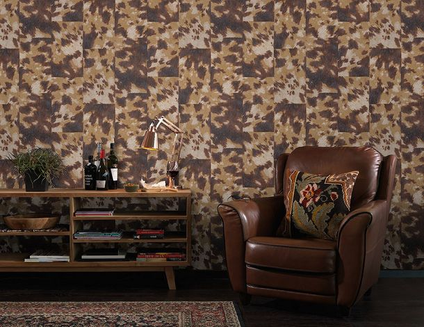Non-woven wallpaper coat optic brown beige Rasch Pop Skin 498233 online kaufen
