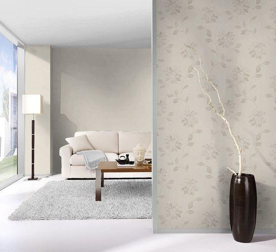 non-woven wallpaper flowers cream greybeige wallpaper Rasch Fiducia 425161 online kaufen
