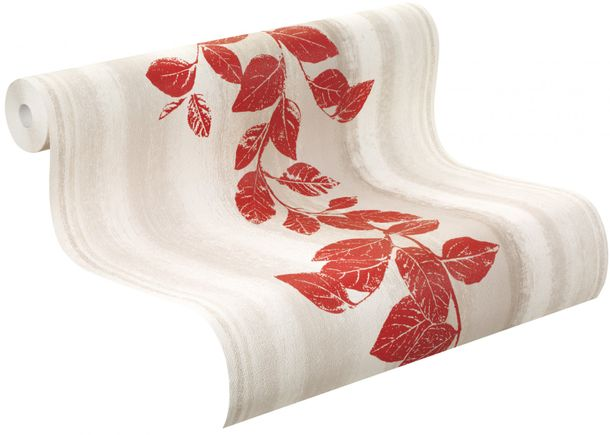 non-woven wallpaper structure flowers grey red wallpaper Rasch Fiducia 424720 online kaufen