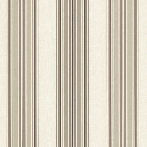 Non-woven wallpaper stripes beige brown Match Race 021210