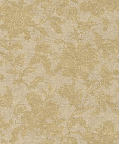 Non-woven wallpaper floral structure cream gold Rasch Textil Tapete Comtesse 225036