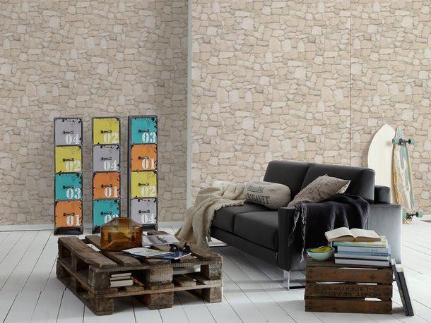 Wallpaper 3D Rubble Work Wall cream 6924-29 online kaufen