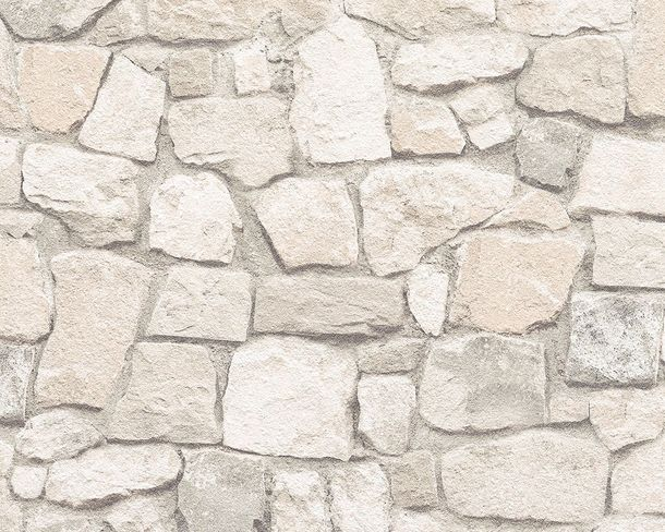 Wallpaper 3D Rubble Work Wall cream 6924-29