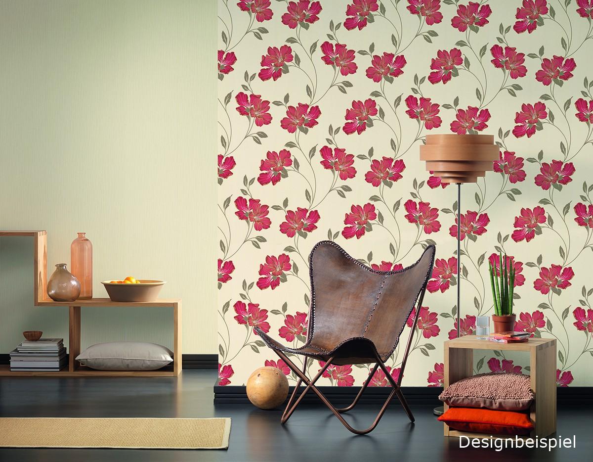 Tapete grau pink blumen atlanta livingwalls 944294 for Blumenmuster tapete