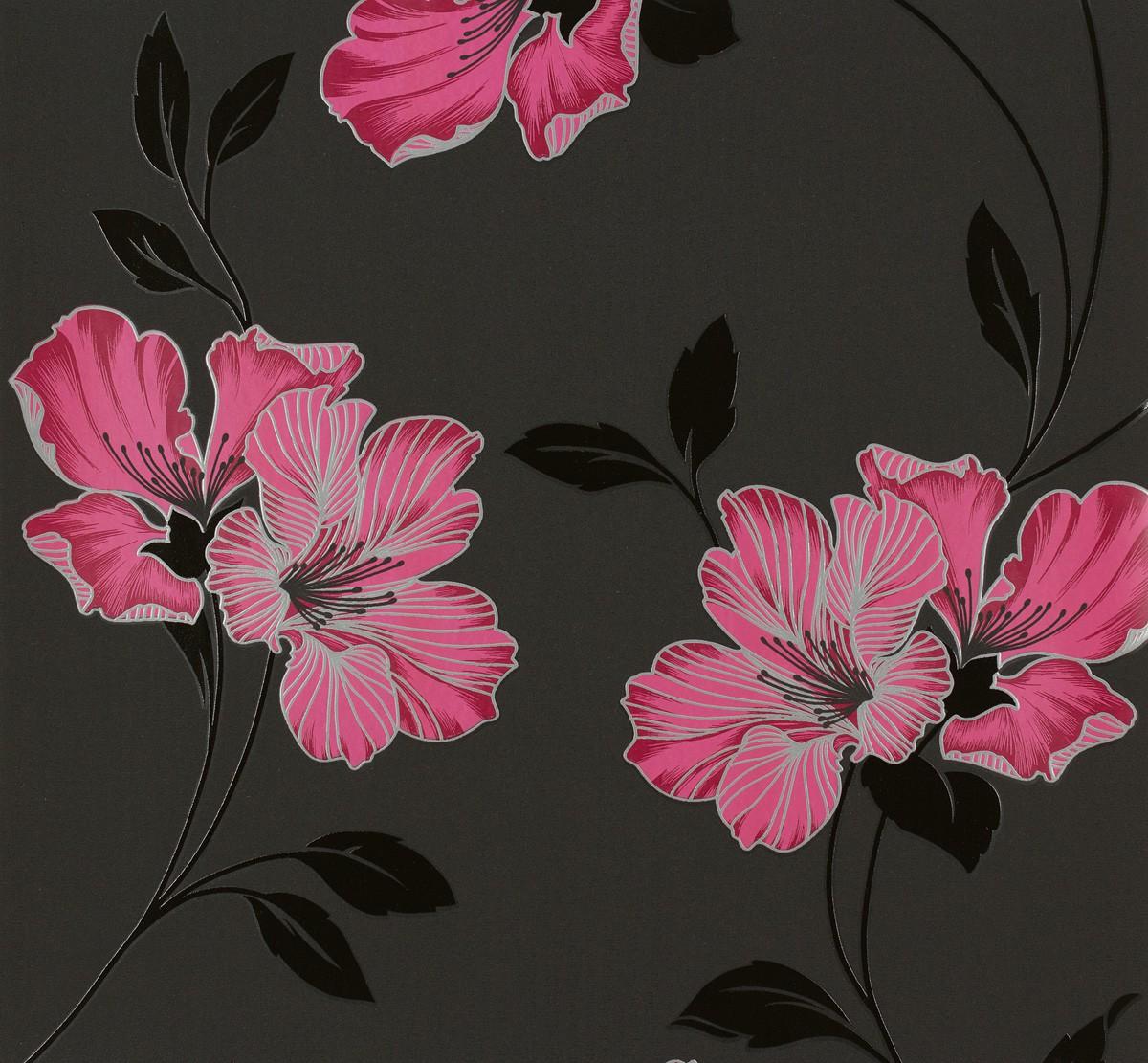 Wallpaper Floral Grey Pink Livingwalls 94429 4