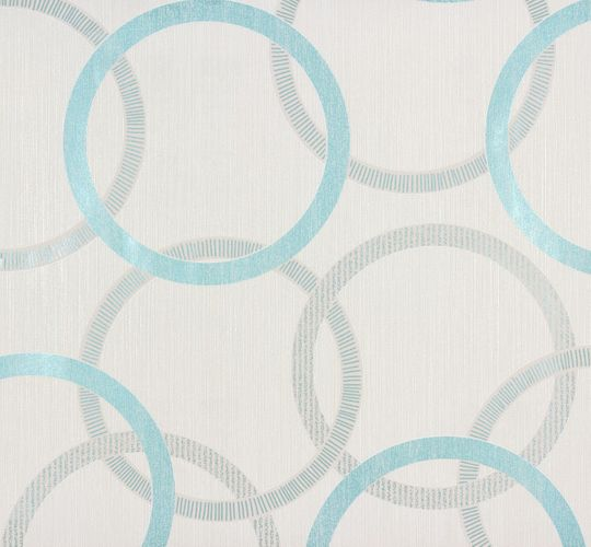 Wallpaper graphic cream turquoise Marburg 53411