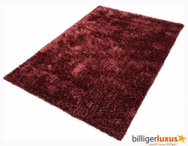 Teppich Shaggy Hochflorteppich NOVA 80x150 cm Rot online kaufen