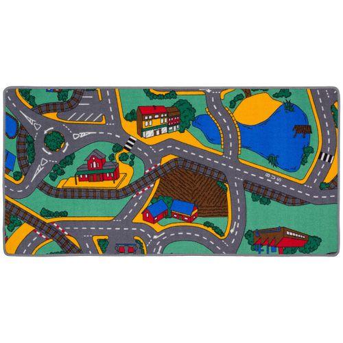 Teppich Straßen-Optik grau grün ca. 70x140 cm mit Vliesrücken  online kaufen