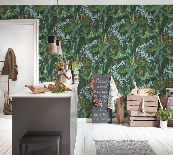Vinyl Wallpaper Leaves Jungle Plants green blue 95898-1 online kaufen