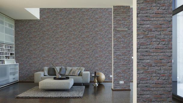Wallpaper Brick Stonewall grey red 95470-2 online kaufen