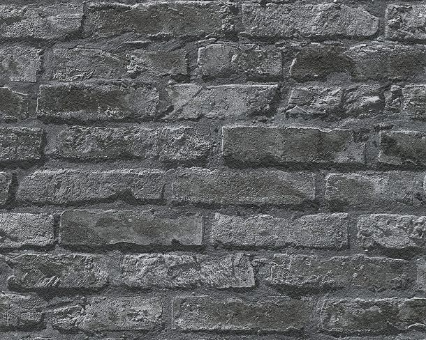 Wallpaper Brick Stonewall anthracite 95470-1 online kaufen