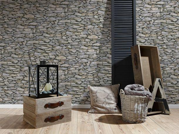 Wallpaper Virgin Stone 3D beige grey 95820-2 online kaufen
