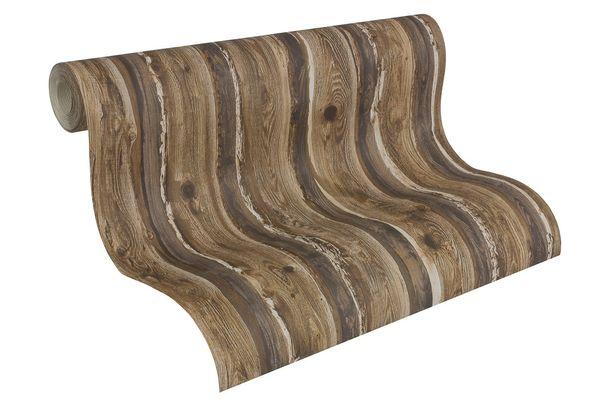 Wallpaper Wood Panel dark brown 95837-1 online kaufen