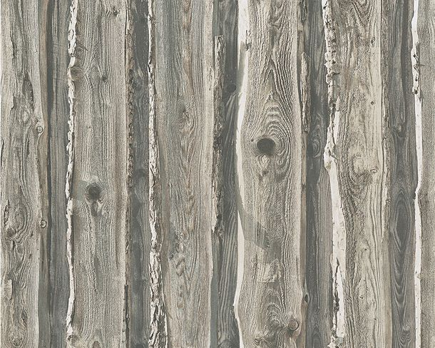 Wallpaper Wood Panel grey brown 95837-2