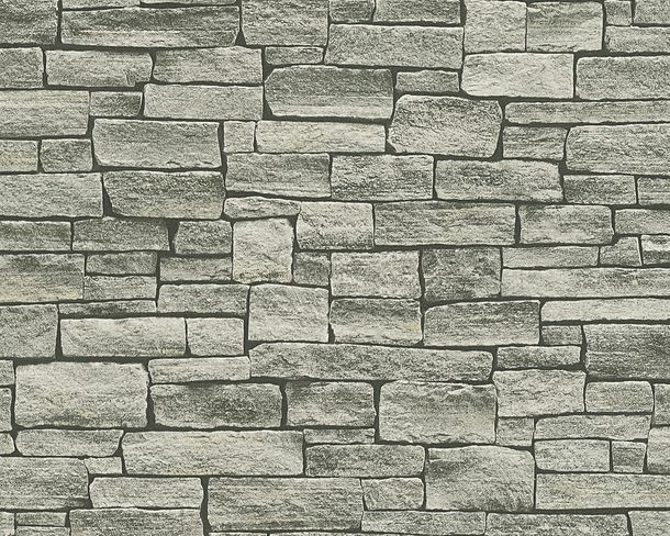 Wallpaper stone bricks grey black AS Creation 95871-2 online kaufen