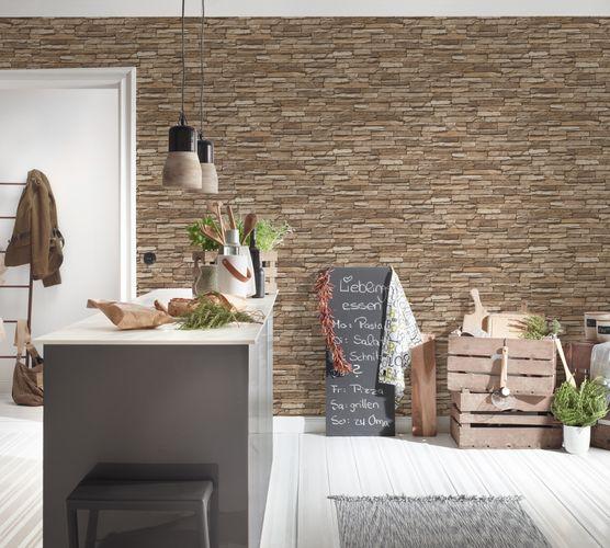 Wallpaper slate stone bricks brown AS Creation 95833-2 online kaufen
