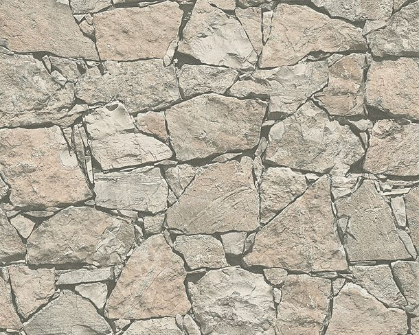 Wallpaper natural stone bricks grey Lutèce 95863-2