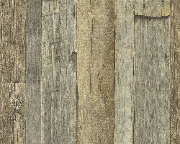 Wallpaper wooden style used brown AS Creation 95931-3