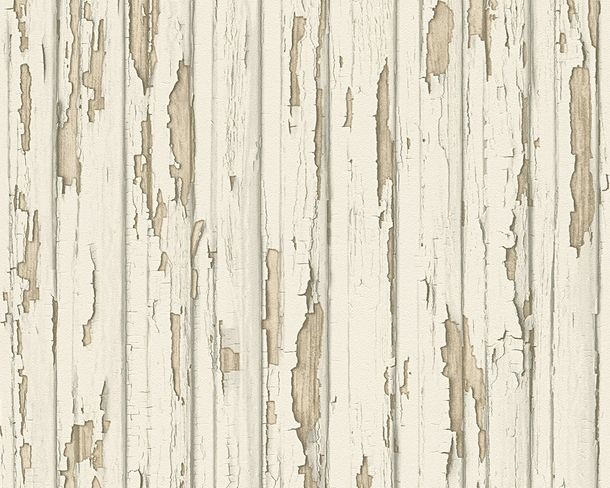 Wallpaper wooden style used cream AS Creation 95883-1