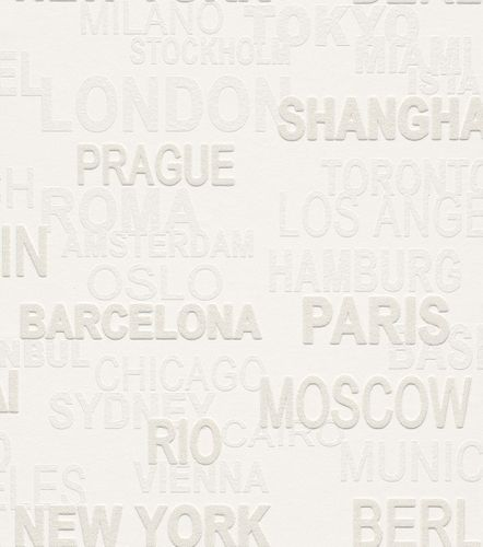 Wallpaper paintable country names Rasch Wallton 341409 online kaufen