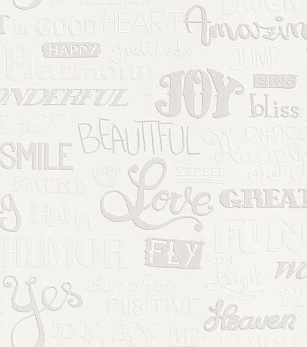 Wallpaper paintable lettering Rasch Wallton 343007