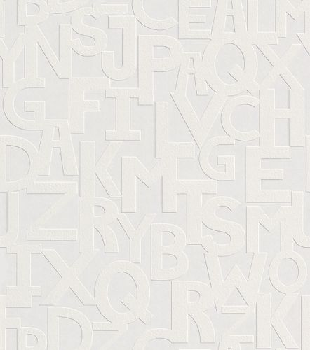 Wallpaper paintable letters Rasch Wallton 143508 online kaufen