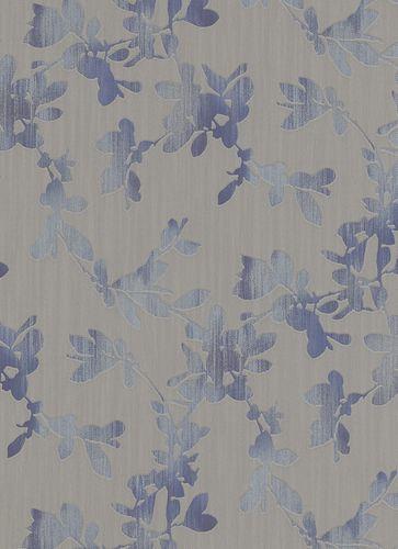 Non-woven wallpaper floral browngrey blue silver Erismann Ophelia 5928-08