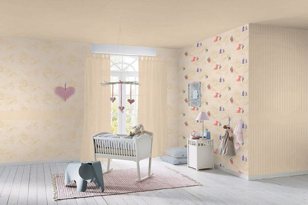 kids wallpaper plain beige wallpaper Rasch Villa Coppenrath Vol.2 295733 online kaufen