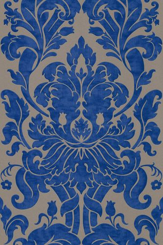 Non-woven Wallpaper baroque light brown blue wallpaper Rasch En Suite 546415 online kaufen