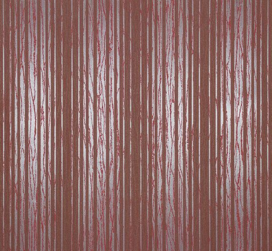 Non-woven wallpaper stripes brown silver Marburg 55719