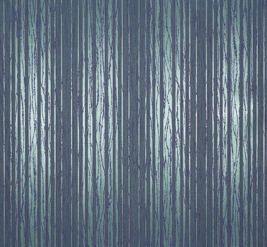 Non-woven wallpaper stripes blue green Marburg 55720
