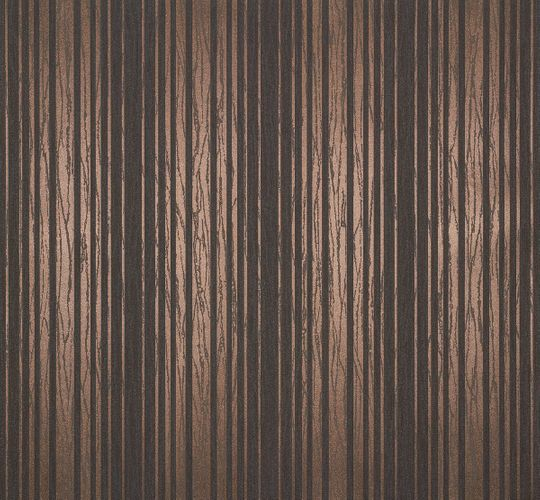 Non-Woven Wallpaper Stripes brown copper Metallic 55722 online kaufen
