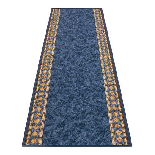 Runner Rug Carpet Cheops border blue 100cm Width