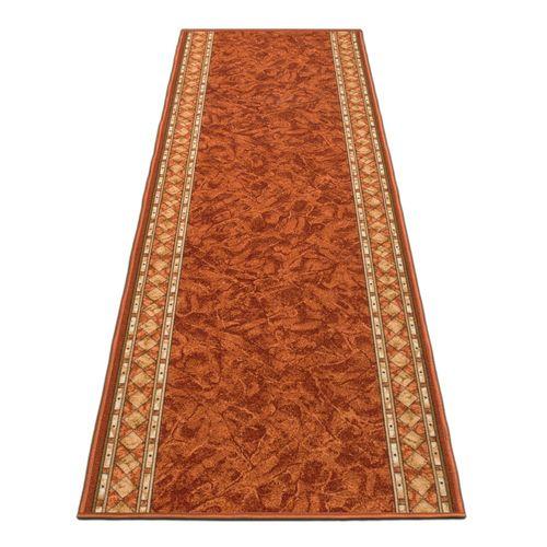 Runner Rug Carpet Cheops border orange 80cm Width