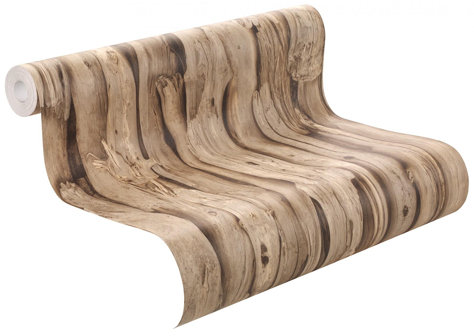Vliestapete braun Holz Optik Struktur Rasch African Queen 2 473216 3,05€//1qm