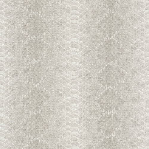 non-woven wallpaper beige cream snake skin optics Rasch African Queen 2 473827