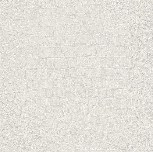 non-woven wallpaper white metallic crocodile skin structure Rasch African Queen 2 474169 online kaufen