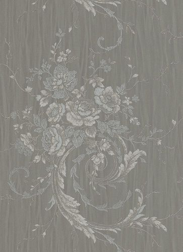 Non-woven wallpaper Erismann Eleganza wallpaper vines grey silver beige 5922-37 online kaufen