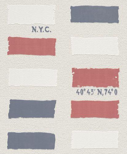 Non-woven Wallpaper beige red white grey pattern Rasch Home Vision 4 Eastcoast wallpaper 426915 online kaufen